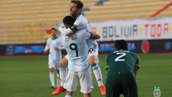 Lionel Messi participó en la jugada de gol de Correa ante Bolivia. (Foto: AFA)
