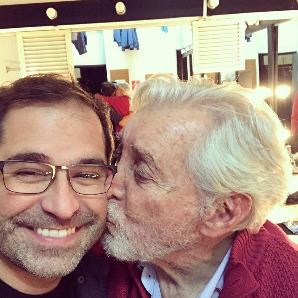 Juan Carlos Fisher y Osvaldo Cattone. Foto: Instagram
