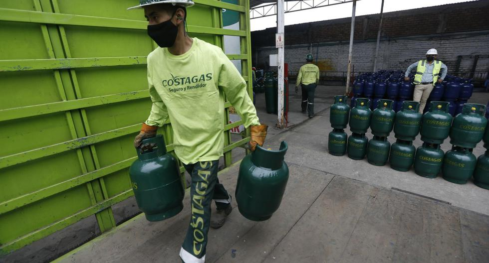 Precio del balón de gas sigue en niveles altos. (Fotos : Jorge Cerdan/@photo.gec)