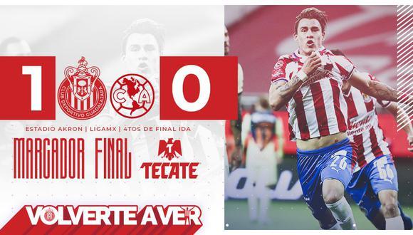 El partido de vuelta se jugará el próximo sábado 28 de noviembre en el estadio Azteca, casa del América. (Foto: Twitter Chivas)