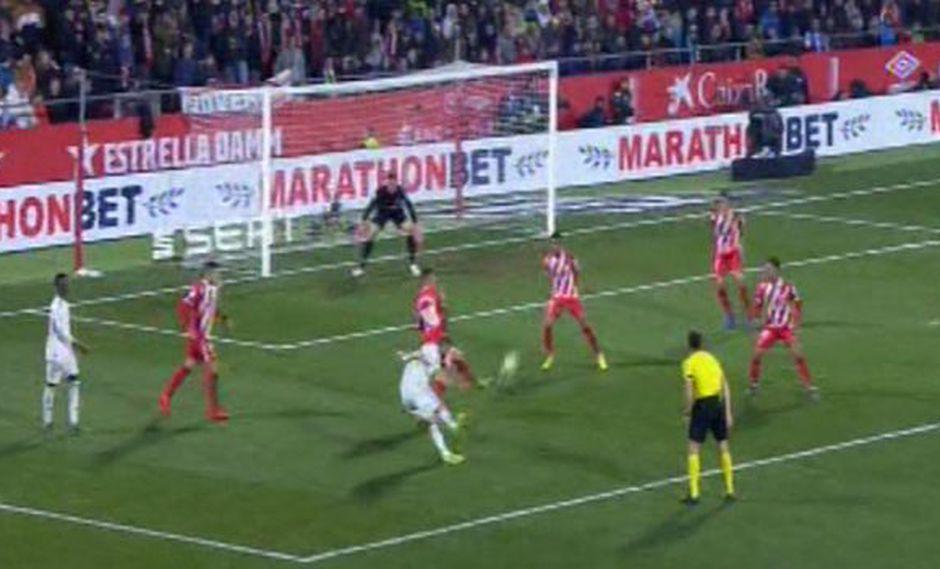 Real Madrid vs. Girona: Benzema y un nuevo golazo para el 2-0 tras pase de Vinicius Junior. (Foto: captura)