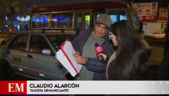 Claudio Alarcón Guizado contó que el automóvil lo adquirió en diciembre del año pasado, sin embargo, fue decomisado el último martes en un operativo en Ate. (Foto: América TV)