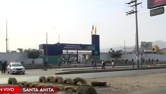 Reportan menos colas para acceder al Gran Mercado Mayorista de Lima tras incidente con estibadores. (Foto: Captura América Noticias)