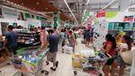Supermercados abarrotados previo al anuncio de estado de emergencia por coronavirus.