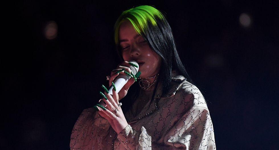 Billie Eilish durante su presentación. (Foto: AFP)