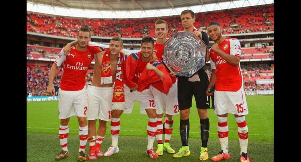 Alegría y emoción: Arsenal festejó título de Community Shield - 8