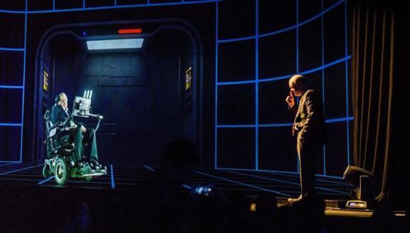 Los hologramas ya han sido utilizados por políticos o científicos, como Stephen Hawking (en la foto), para dar conferencias a distancia. (Foto: Getty)