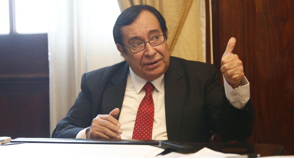 El presidente del Poder Judicial, Víctor Prado Saldarriaga, señaló que hay autonomía de poderes. (Foto: USI)