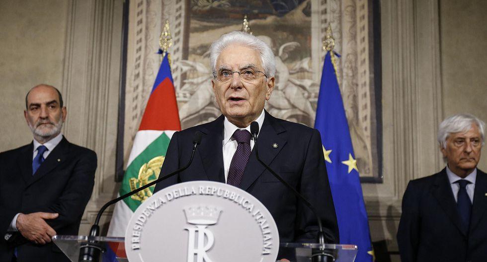 Sergio Mattarella (al centro), presidente de Italia. (EFE).