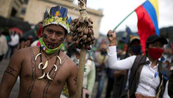 Durante las últimas semanas, y en el marco de las actuales protestas sociales en Colombia, los medios han reportado sobre la participación de la minga indígena en las protestas contra el Gobierno de Iván Duque. ¿Quiénes conforman este grupo y cuáles son sus pedidos al Gobierno? (Foto: Luisa Gonzalez  / Reuters)