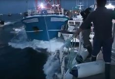 YouTube: pescadores franceses y británicos se enfrascan en violento choque de barcos
