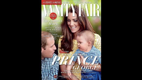 """Príncipe George posó para su primera portada en """"Vanity Fair"""""""