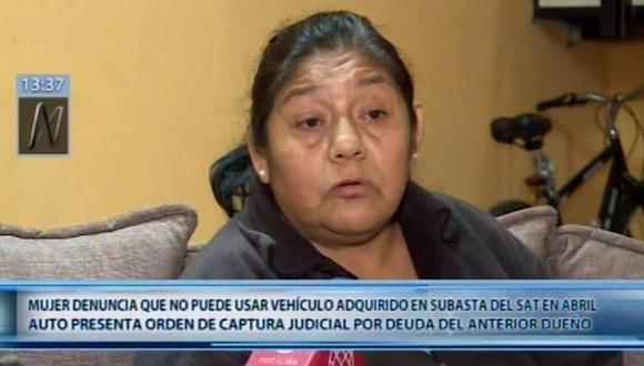 Micaela Quesquén se enteró de la orden de captura contra su vehículo cuando tramitaba la tarjeta de propiedad en la Superintendencia Nacional de Registros Públicos (Sunarp). (Canal n)