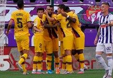 Barcelona, con gol de Arturo Vidal, venció al Valladolid y se acercó al Real Madrid en LaLiga