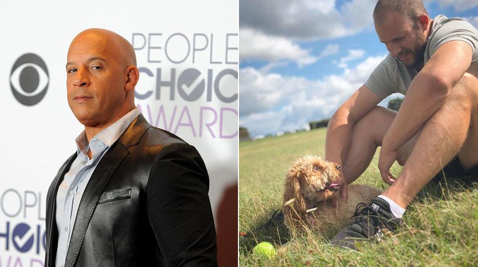 """Vin Diesel y Joe Watts, su doble de acción en """"Rápidos y furiosos"""". (Foto: Agencias/ Instagram)"""