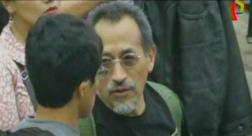 Zenón Vargas fue visto en el mausoleo que existía en Comas, donde se homenajeaba a terroristas muertos. (Captura de video)