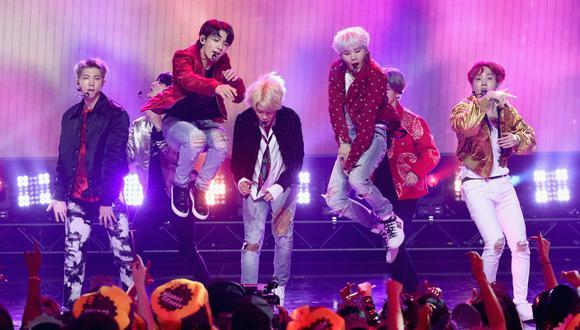 Agrupación BTS (Foto: AFP)