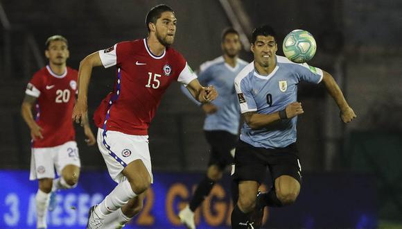 Uruguay vs Chile por Copa América 2021. | Foto: AFP