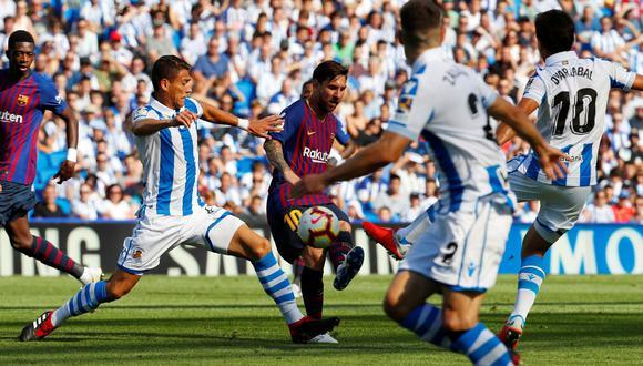Barcelona vs. Real Sociedad EN DIRECTO EN VIVO ONLINE vía beIN Sports: con Messi pierden 1-0. (Foto: REUTERS)