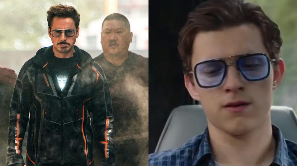 """""""Spiderman: Far From Home"""". Los lentes de Tony Stark incluyen una función ilegal. Foto: Sony Pictures."""