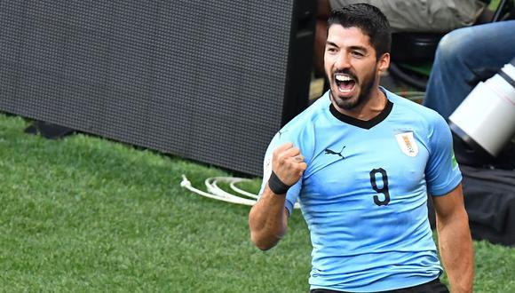 Luis Suárez marcó el único gol de Uruguay ante Arabia Saudita. (Foto: AFP)