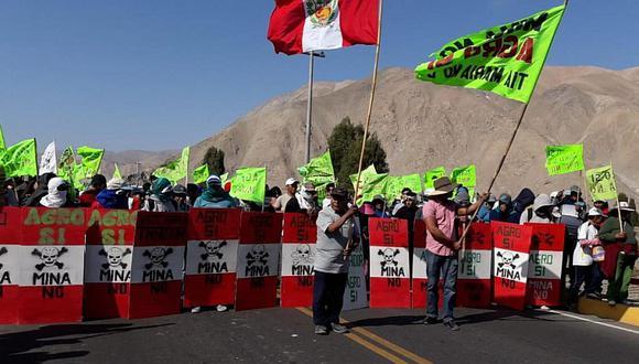 Arequipa: las protestas contra del proyecto minero Tía María se registraron en el 2015 en la provincia arequipeña de Islay. (Foto: GEC)