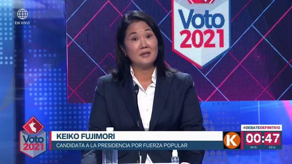 """Keiko Fujimori dijo en debate presidencial que el populismo y la izquierda  radical """"son peores que el COVID-19""""   Elecciones 2021   nndc     POLITICA    EL COMERCIO PERÚ"""