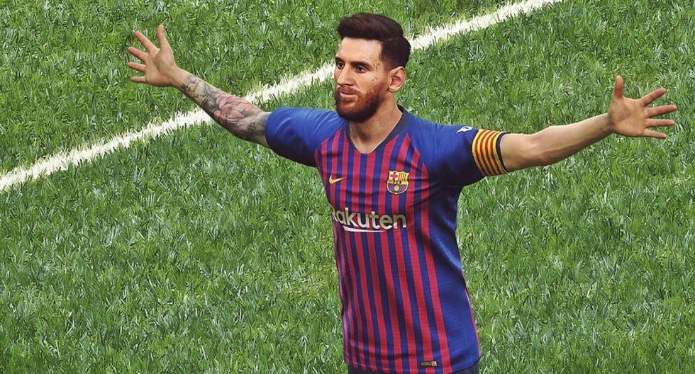 Lionel Messi en PES 2019. (Konami)