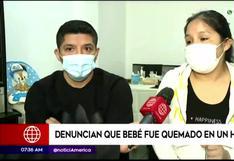 Padres denuncian que su bebé fue quemado durante baño en Hospital Almenara