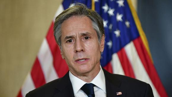 El secretario de Estado de Estados Unidos Antony Blinken. (Frederic J. BROWN / POOL / AFP).