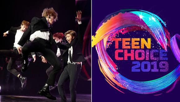 BTS en los Teen Choice Awards. (Fotos: Agencias)