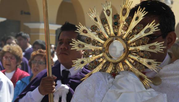 La celebración del Corpus Christi se realiza 60 días después del Domingo de Resurrección. (Foto de archivo: Jairo Vega/GEC )