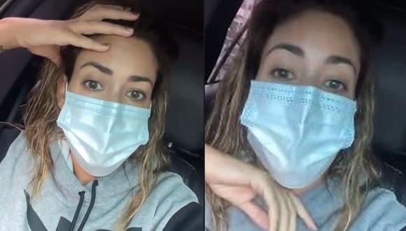 Tilsa Lozano denuncia que no la quisieron atender en una conocida clínica local. (Foto: Captura de video)