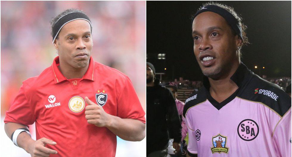 Ronaldinho vistió las camisetas de Cienciano (2016) y Sport Boys   Foto: GEC