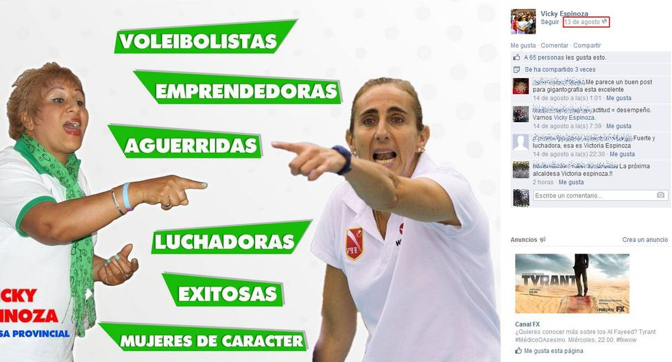 Imagen de Natalia Málaga fue usada en afiche de candidata - 2