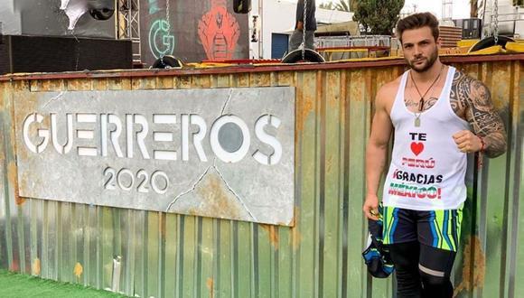 """Nicola Porcella ocupó el puesto nueve entre los mejores competidores de la primera temporada de """"Guerreros 2020"""". (Instagram: @nicolaporcella12)."""