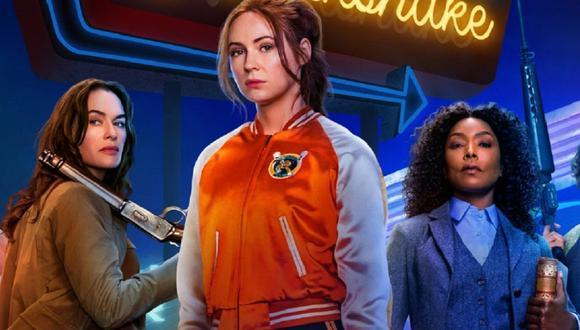 """Lena Headey, Karen Gillan y Angela Bassett son parte del elenco de """"Gunpowder Milkshake"""" (Foto: Netflix)"""