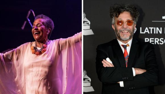 El cantante Fito Páez agradeció a la peruana Susana Baca por la interpretación de una de sus canciones. (AFP / @susana_baca).