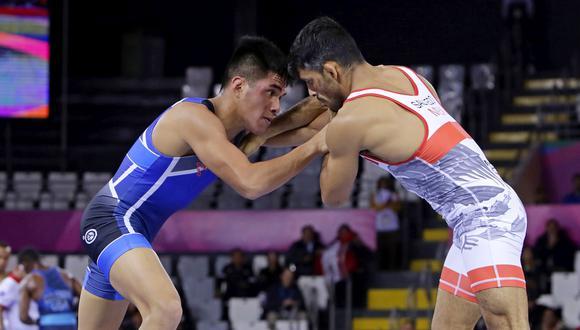 Nilton Soto ganó bronce en lucha grecorromana. (Foto: Lima 2019)