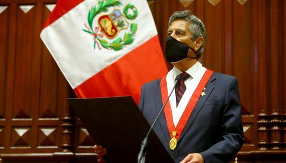 Francisco Sagasti había anunciado su renuncia a su precandidatura a la vicepresidencia en la plancha de Julio Guzmán en el Partido Morado. (Foto: Presidencia)
