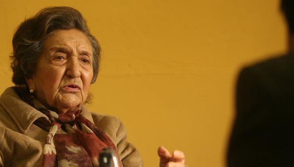 María Rostworowski durante una entrevista con este diario en el año 2007. (Foto: Dante Piaggio/ El Comercio)