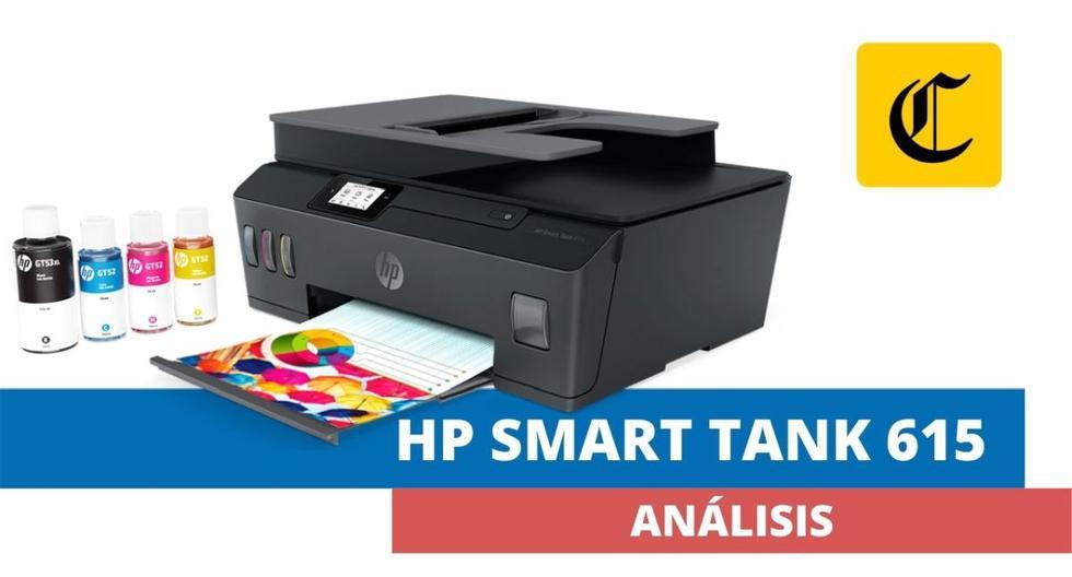 Ya que estamos en pleno regreso a clases, evaluamos la impresora multifuncional Smart Tank 615 de HP. (El Comercio)