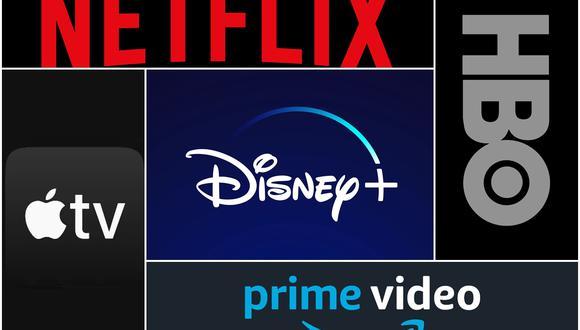 Cinco grandes servicios de streaming competirán por la atención y billeteras de los latinoamericanos. (Foto: Netflix/Apple/Disney/Amazon/HBO)