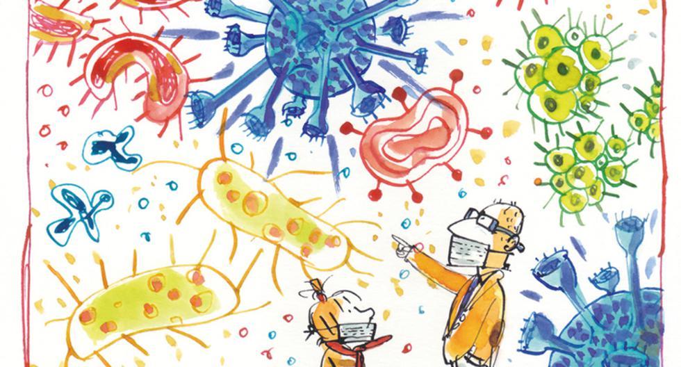 Salvador Macip y Emilio Urberuaga se unen para traernos un cuento para una crisis: Alicia y el coronavirus. (Foto: Ilustración: Emilio Urberuaga / Autorizado por la editorial Flamboyant para su publicación en este artículo de El Comercio)