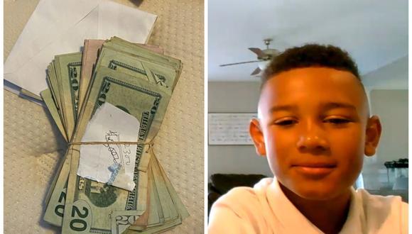 El pequeño Melvin, de 9 años, encontró 5.000 dólares mientras limpiaba el auto de su papá y los devolvió. (Foto: WRTV)
