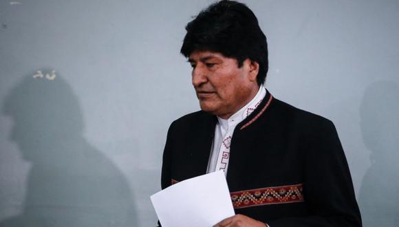 El expresidente de Bolivia Evo Morales durante una rueda de prensa en la Ciudad de Buenos Aires (Argentina). (Foto: EFE/ Juan Ignacio Roncoroni).