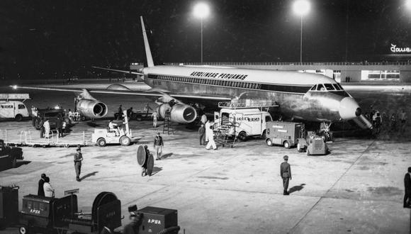 LIMA, 30 DE DICIEMBRE 1965INAUGURACION DEL AEROPUERTO INTERNACIONAL JORGE CHAVEZFOTO:  EL COMERCIO