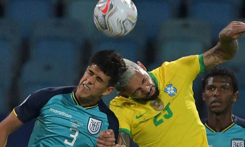 Brasil vs Ecuador por Copa América 2021 Foto: EFE