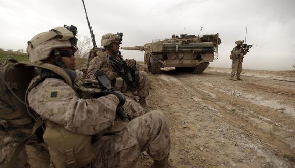 Infantes de marina de Estados Unidos en Afganistán. (Foto: Patrick BAZ / AFP).