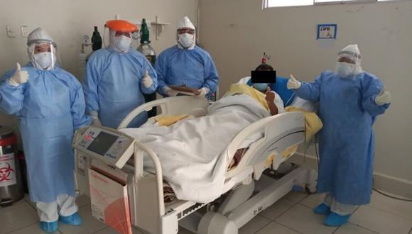 El paciente invocó a la población a acatar las disposiciones del Gobierno y quedarse en casa. (Foto: Diresa)